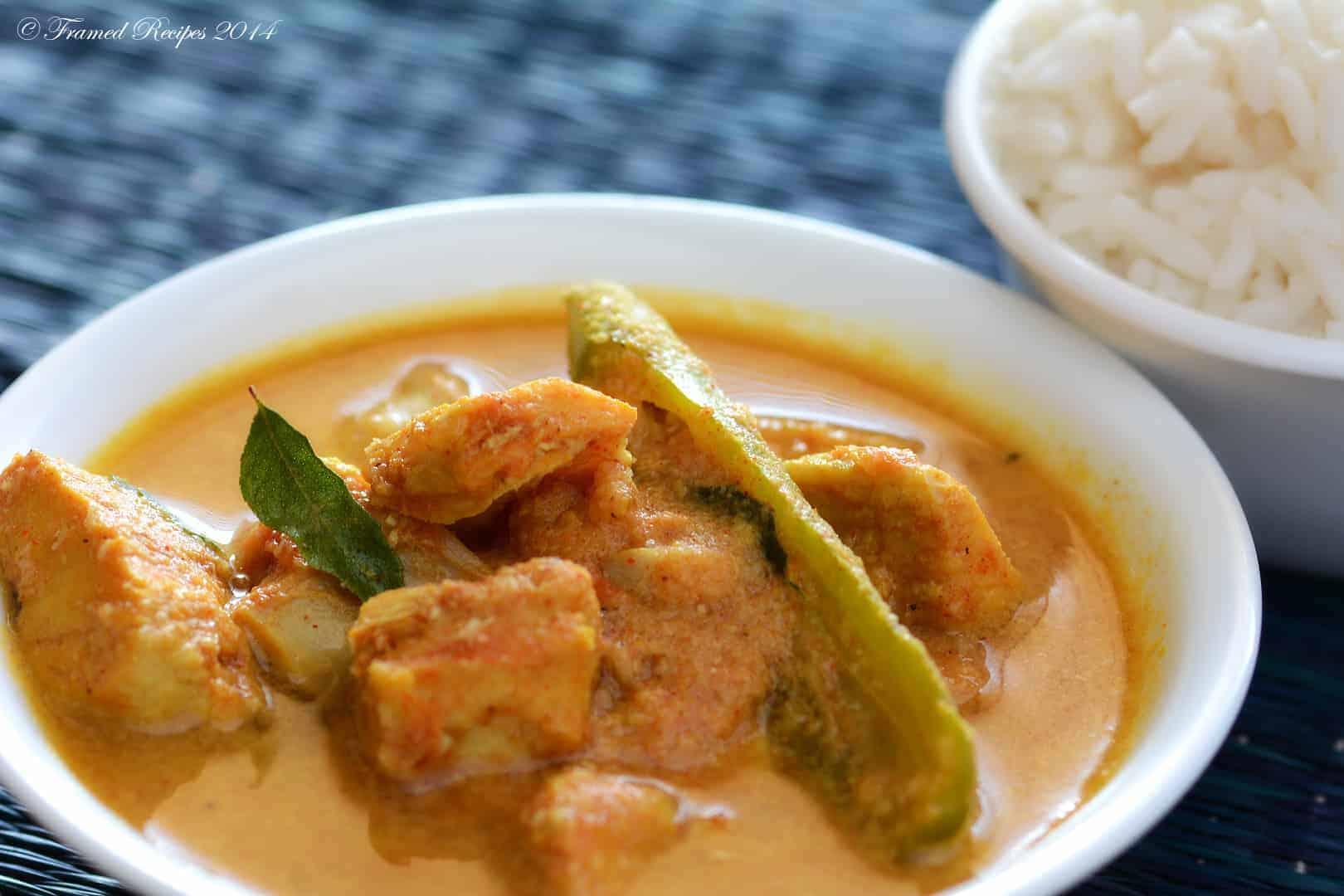 Kerala style fish curry.
