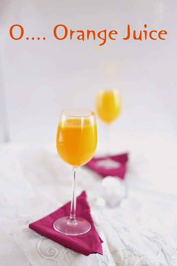 Orange Juice - Sandhyaskitchen