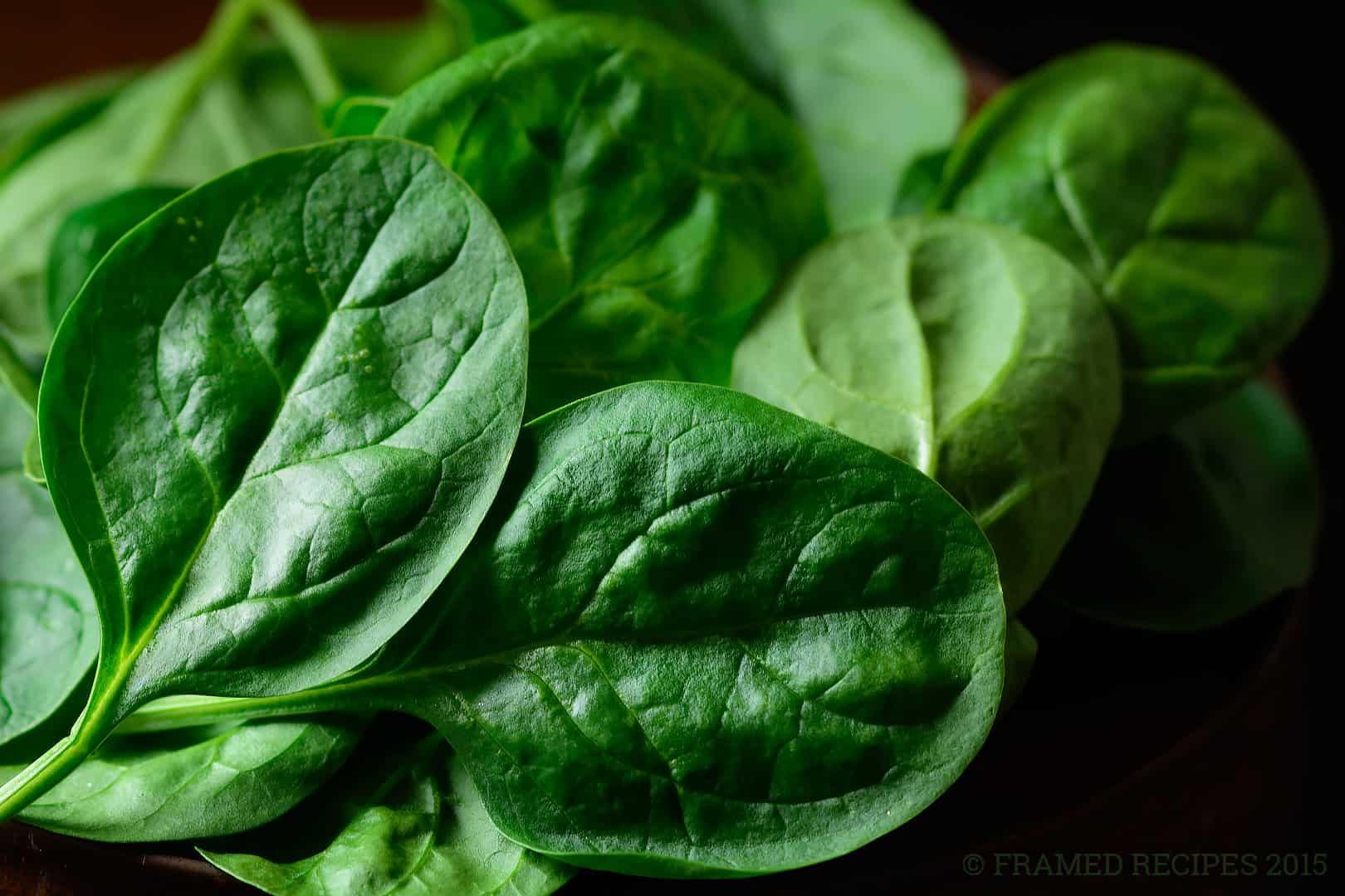 spinach - fresh, healthy and nutritious.