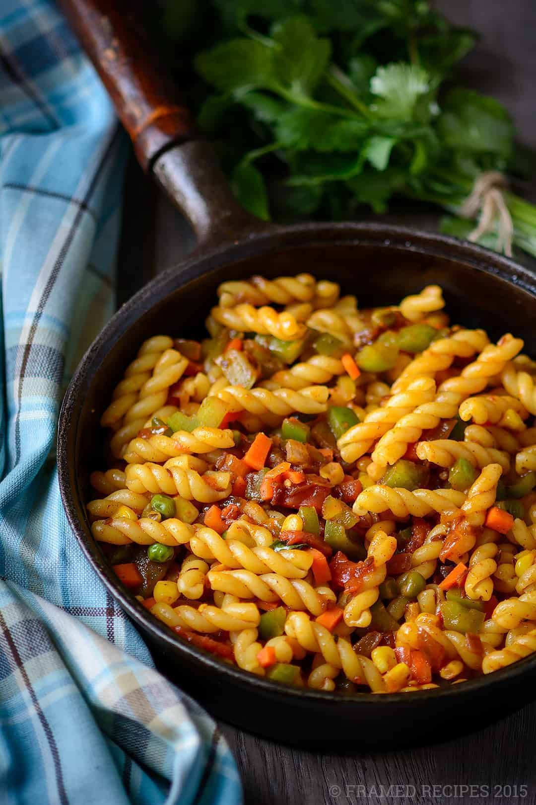 how to make vegetable pasta indian style