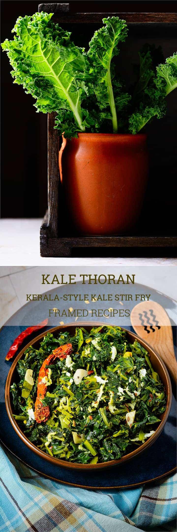 Kale thoran framed recipes kale thoran kerala style kale stir fry forumfinder Gallery