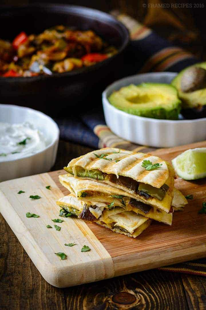 Ratatouille Quesadilla