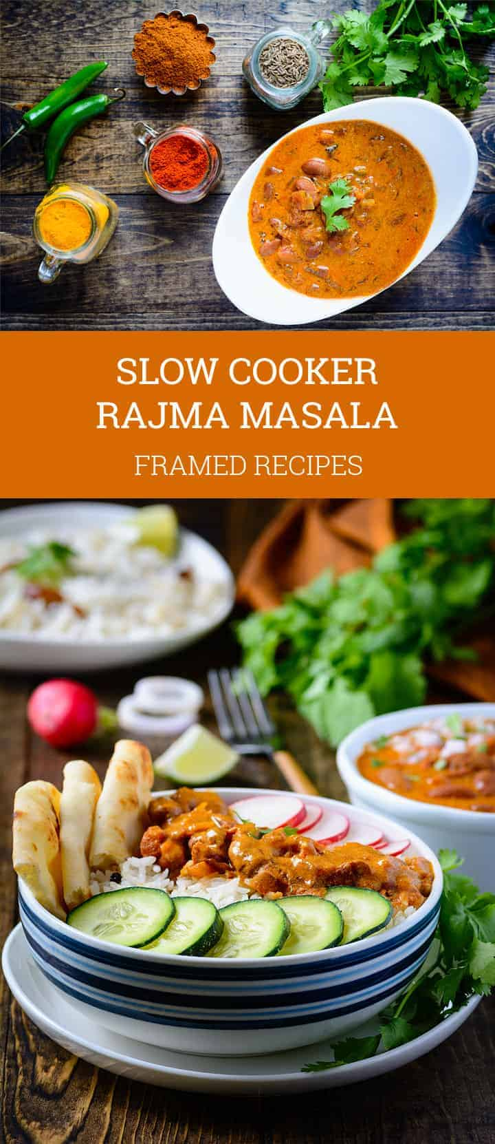 Slow Cooker Rajma Masala Bowl