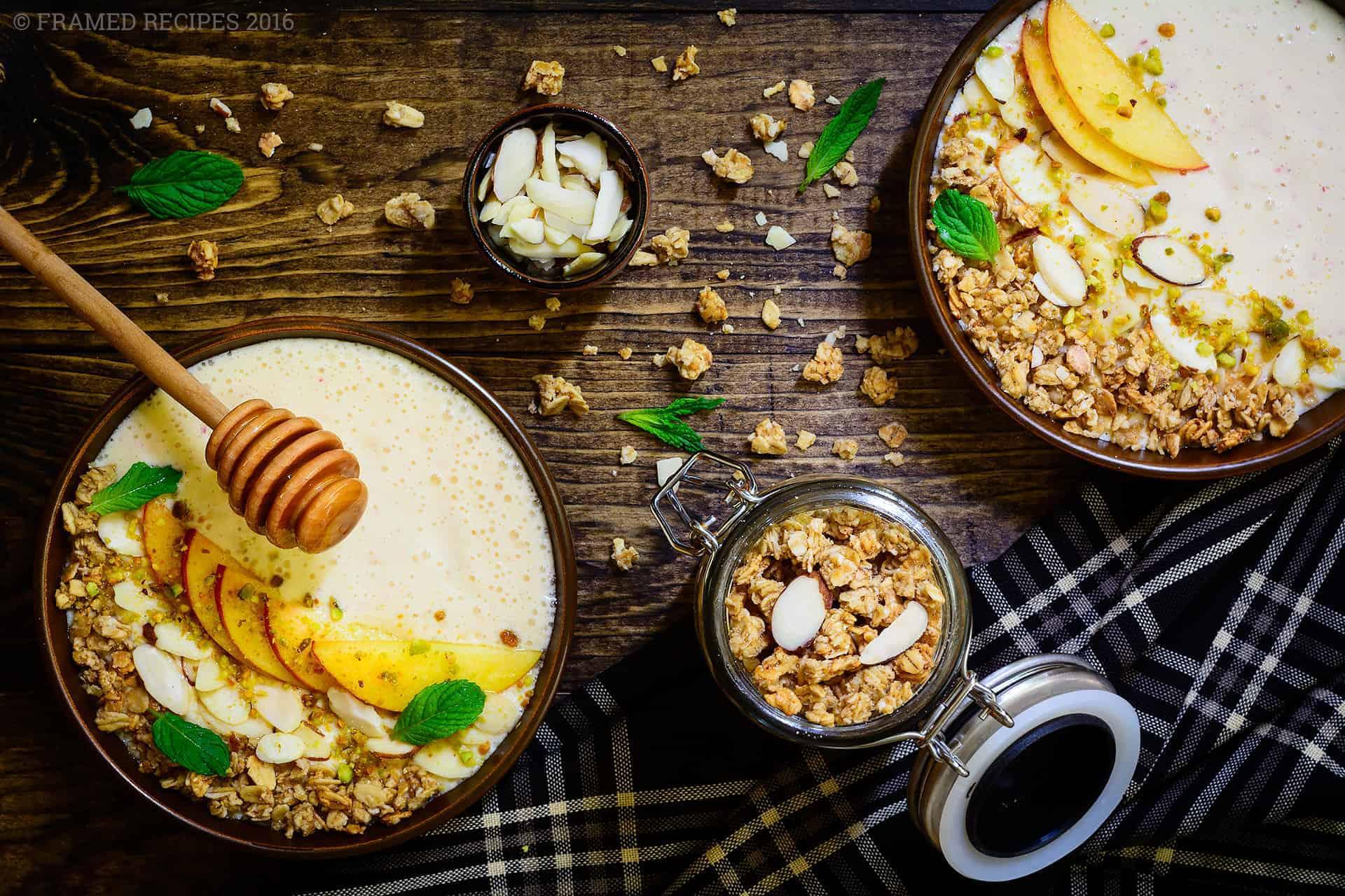 Peach Yogurt Breakfast Bowl