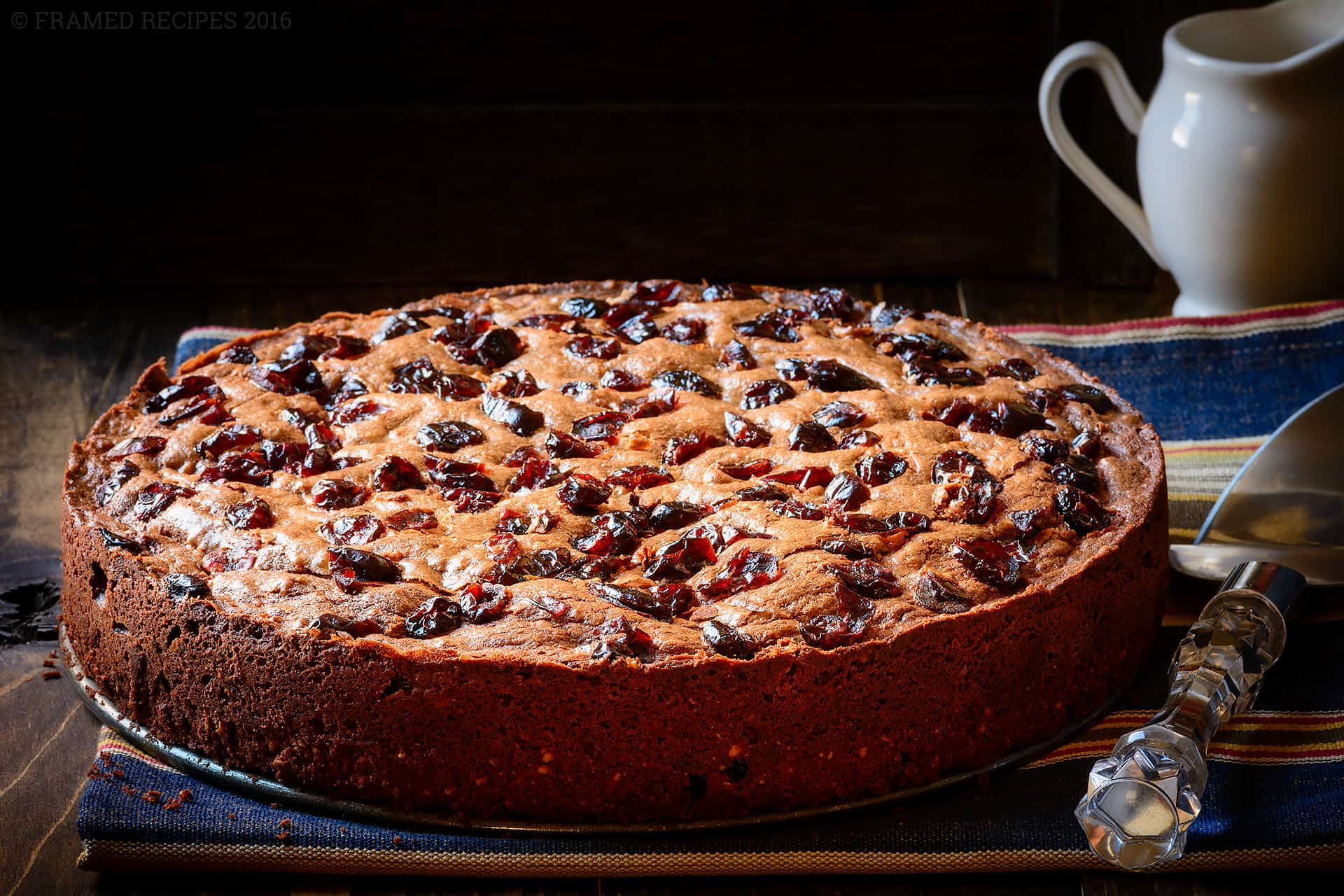 Chocolate Cranberry Torte