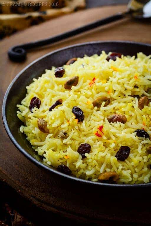 Saffron Rice Recipe Framed Recipes