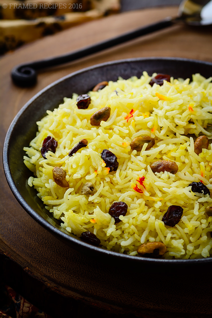 ... saffron rice with nuts and raisins or an Indian inspired saffron rice