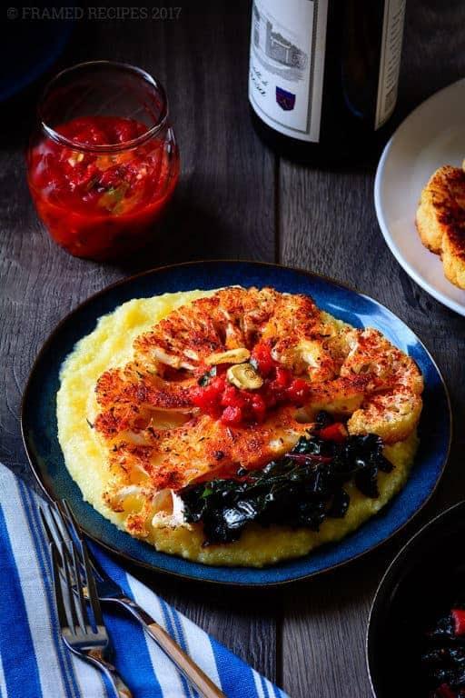 Polenta With Cauliflower Steak