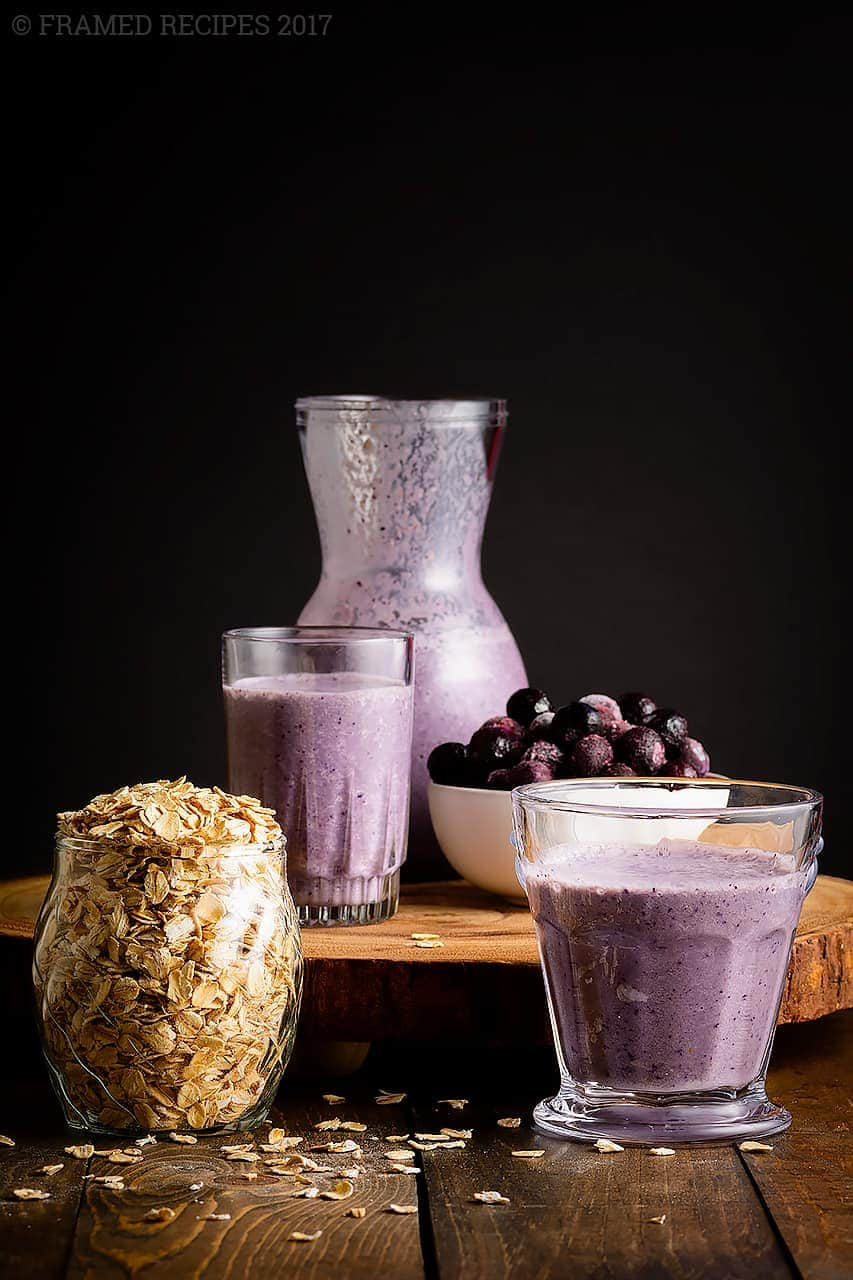Blueberry Oats Smoothie