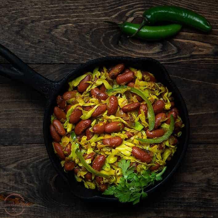 Rajma Sabji with Cabbage