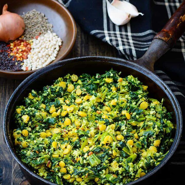Mustard_Greens_with_Chana_Dal_Stir_Fry