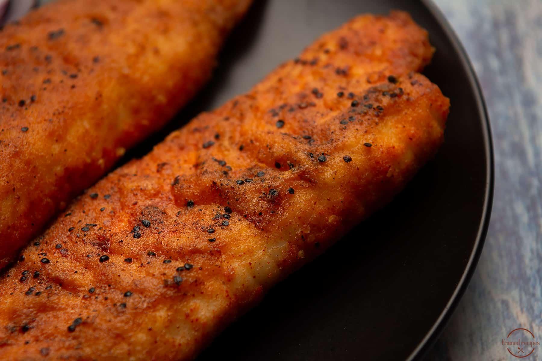 rice flour spice mix coated tilpia