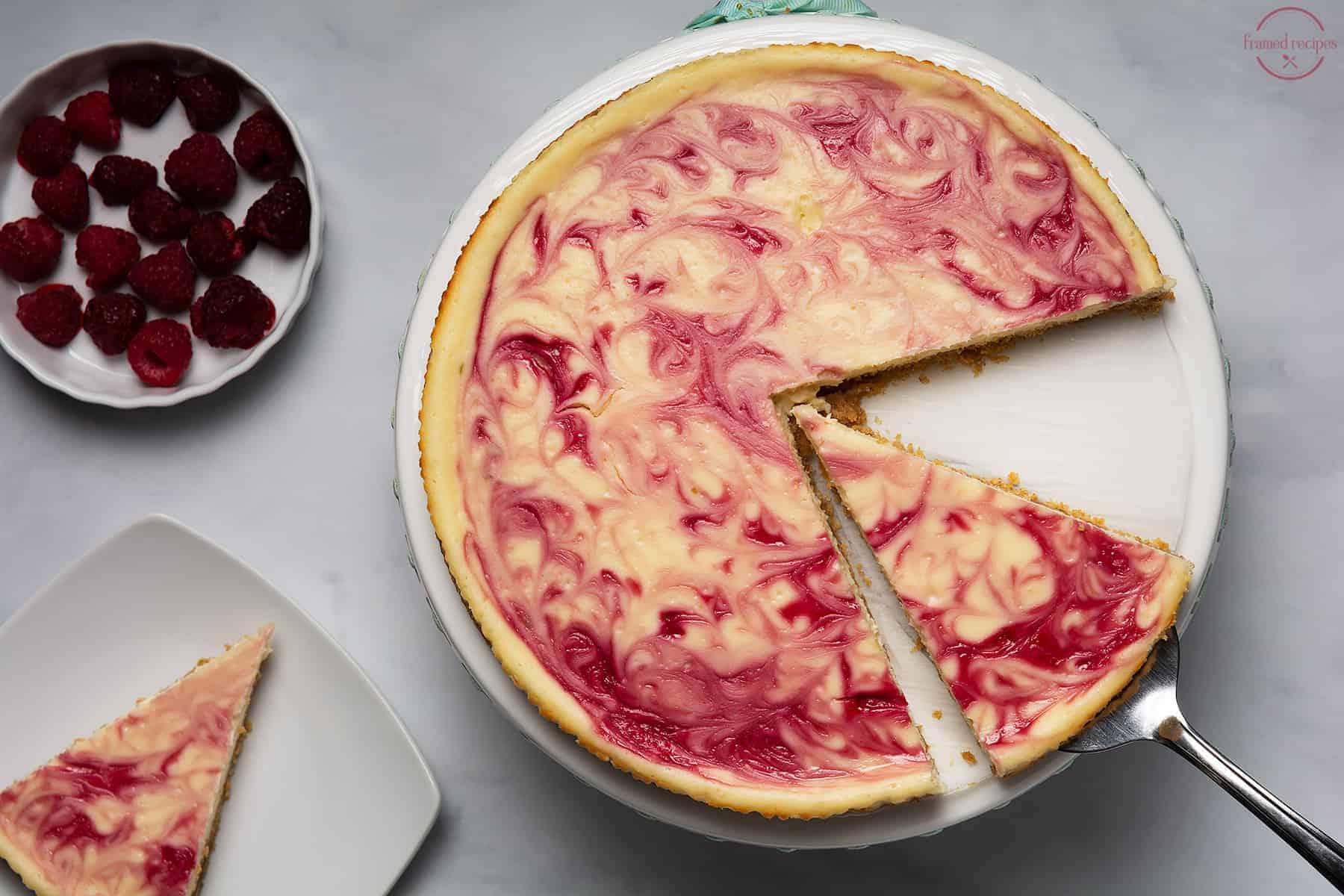 cheesecake with swirls