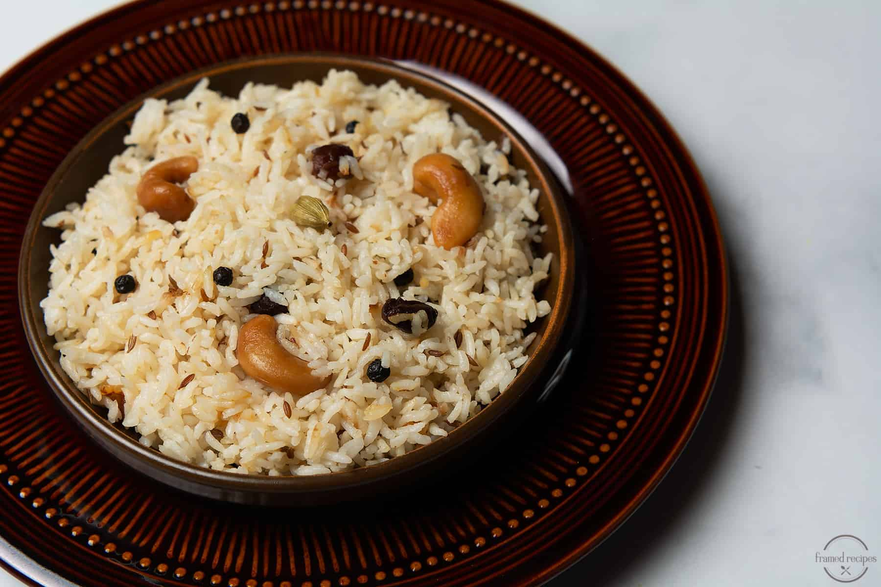cumin flavored rice made using instant pot