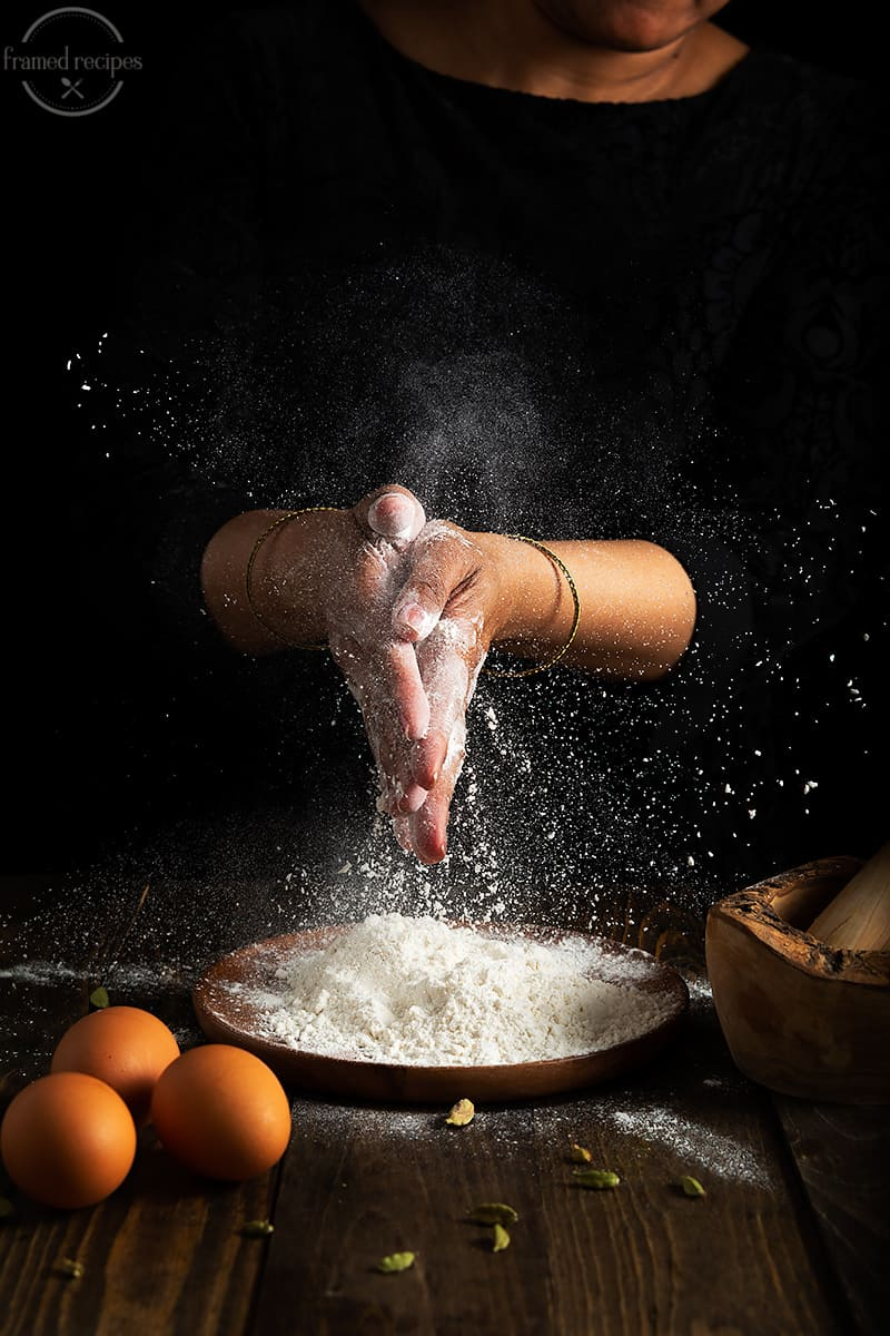 action shot - behind the scenes - food photography